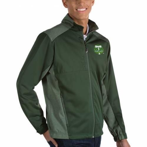 ANTIGUA メンズ ポートランド 緑 グリーン メンズファッション コート ジャケット 【 Mens Portland Timbers Revolve Green Full-zip Jacket 】 Color
