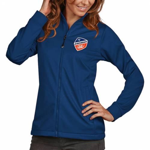 ANTIGUA レディース シンシナティ ゴルフ 【 Womens Fc Cincinnati Golf Royal Full-zip Jacket 】 Color