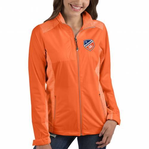 【★スーパーセール中★ 6/11深夜2時迄】ANTIGUA レディース シンシナティ 橙 オレンジ 【 Womens Fc Cincinnati Revolve Orange Full-zip Jacket 】 Color