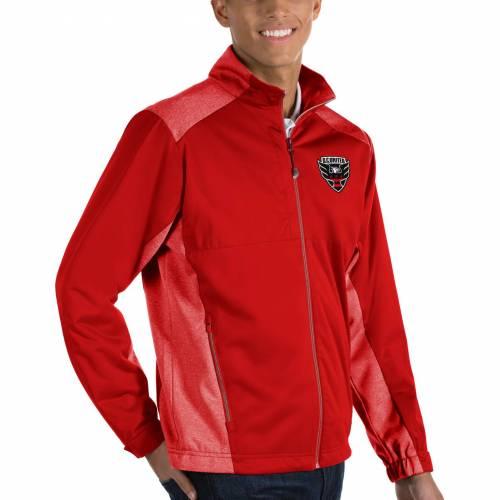 ANTIGUA メンズ 赤 レッド D.c メンズファッション コート ジャケット 【 Mens D.c United Revolve Red Full-zip Jacket 】 Color