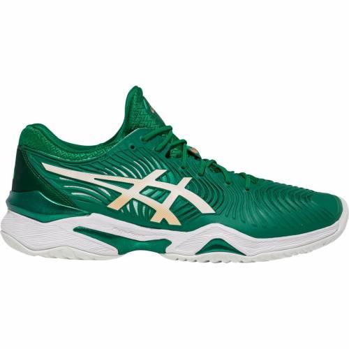 アシックス ASICS カウント テニス スニーカー 運動靴 緑 グリーン 白 ホワイト MEN'S スニーカー 【 GREEN WHITE ASICS COURT FF NOVAK TENNIS SHOES 】 メンズ スニーカー