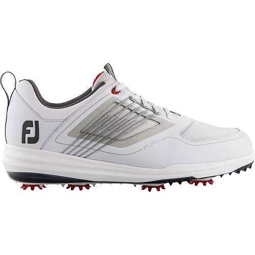 FOOTJOY メンズ ゴルフ スニーカー 運動靴 【 Mens Fury Golf Shoes 】 White/red