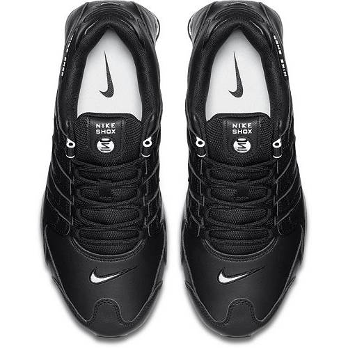 ナイキ NIKE ショックス スニーカー 運動靴 黒 ブラック 白 ホワイト MEN'S スニーカー 【 SHOX BLACK WHITE NIKE NZ SHOES 】 メンズ スニーカー