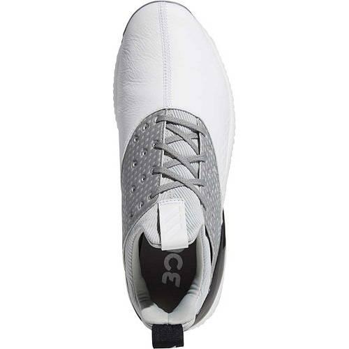 アディダス ADIDAS ゴルフ スニーカー 運動靴 白 ホワイト 灰色 グレ MEN'S スニーカー 【 GOLF WHITE ADIDAS ADICROSS BOUNCE 2 SHOES GREY 】 メンズ スニーカー