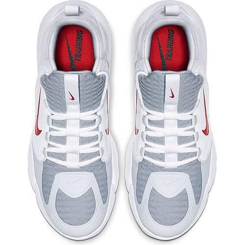 ナイキ NIKE エア マックス アルファ トレーニング スニーカー 運動靴 灰色 グレ 赤 レッド MEN'S スニーカー 【 AIR RED NIKE MAX ALPHA SAVAGE TRAINING SHOES GREY 】 メンズ スニーカー