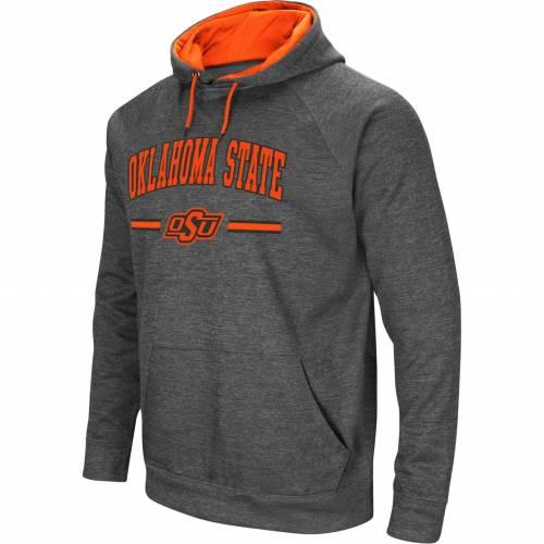COLOSSEUM メンズ スケートボード カウボーイズ Gray灰色 グレイ メンズファッション トップス パーカー 【 Mens Oklahoma State Cowboys Grey Pullover Hoodie 】 Color