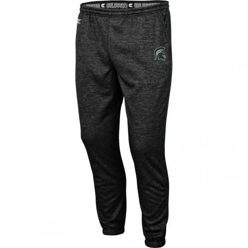COLOSSEUM メンズ ミシガン スケートボード パフォーマンス 黒 ブラック メンズファッション ズボン パンツ 【 Mens Michigan State Spartans Burns Performance Black Pants 】 Color