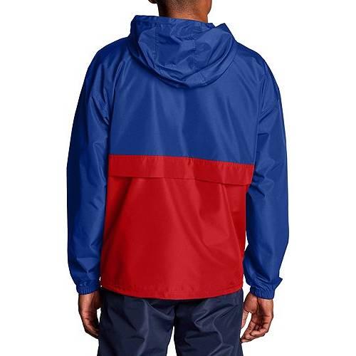 チャンピオン CHAMPION メンズ メンズファッション コート ジャケット 【 Mens Colorblocked Packable Jacket 】 Surf The Web/scarlet