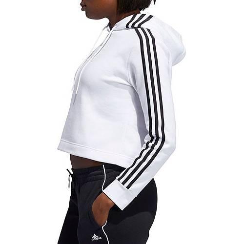 アディダス ADIDAS レディース ゲーム レディースファッション トップス パーカー 【 Womens Post Game Cropped Hoodie 】 White/black