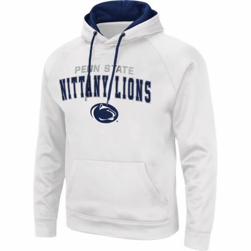 COLOSSEUM メンズ スケートボード ライオンズ 白 ホワイト メンズファッション トップス パーカー 【 Mens Penn State Nittany Lions Pullover White Hoodie 】 Color