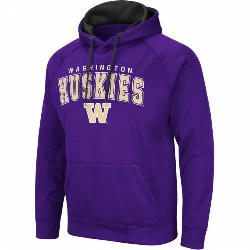 COLOSSEUM メンズ ワシントン 紫 パープル メンズファッション トップス パーカー 【 Mens Washington Huskies Purple Pullover Hoodie 】 Color