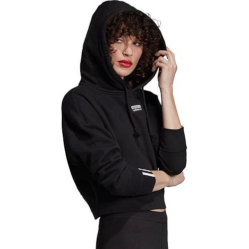 アディダス ADIDAS レディース クロップ レディースファッション トップス パーカー 【 Originals Womens Vocal Crop Hoodie 】 Black