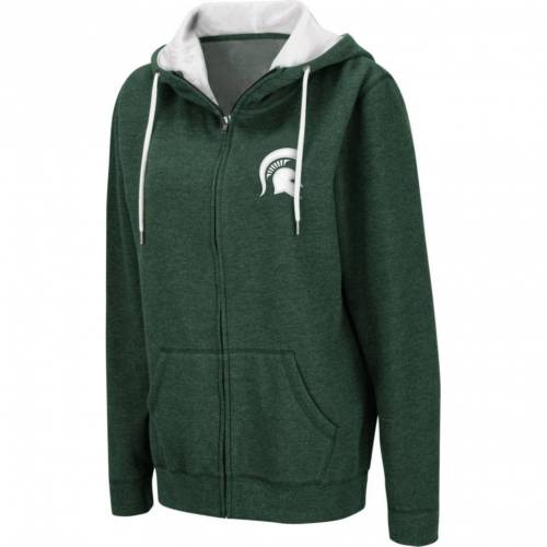 COLOSSEUM レディース ミシガン スケートボード 緑 グリーン レディースファッション トップス パーカー 【 Womens Michigan State Spartans Green Full-zip Hoodie 】 Color