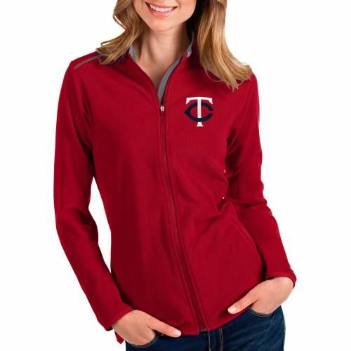 【★スーパーセール中★ 6/11深夜2時迄】ANTIGUA レディース ミネソタ ツインズ 赤 レッド 【 Womens Minnesota Twins Red Glacier Full-zip Jacket 】 Color