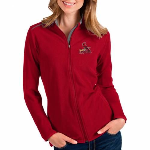 【★スーパーセール中★ 6/11深夜2時迄】ANTIGUA レディース カーディナルス 赤 レッド St. 【 Womens St. Louis Cardinals Red Glacier Full-zip Jacket 】 Color