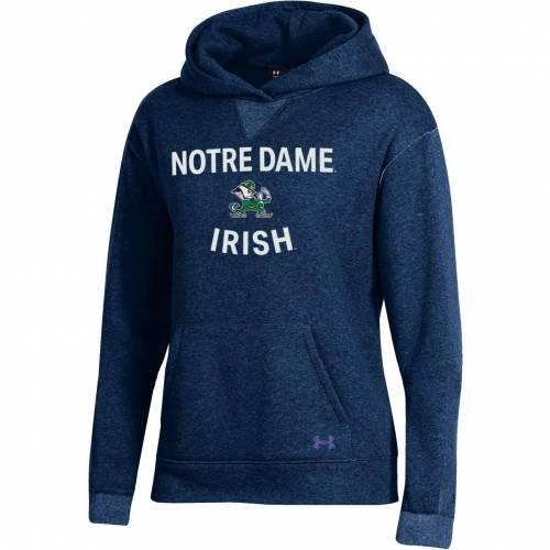 アンダーアーマー UNDER ARMOUR レディース 紺 ネイビー レディースファッション トップス パーカー 【 Womens Notre Dame Fighting Irish Navy All Day Hoodie 】 Color