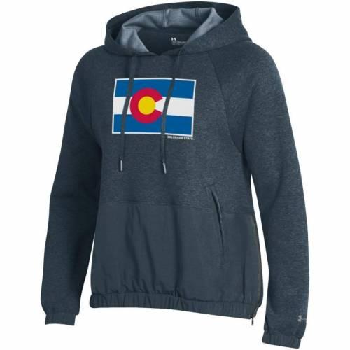 アンダーアーマー UNDER ARMOUR レディース コロラド スケートボード ラムズ Gray灰色 グレイ ニット 'state レディースファッション トップス パーカー 【 Womens Colorado State Rams Grey 'state Pride