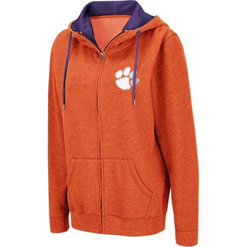 COLOSSEUM レディース タイガース 橙 オレンジ レディースファッション トップス パーカー 【 Womens Clemson Tigers Orange Full-zip Hoodie 】 Color