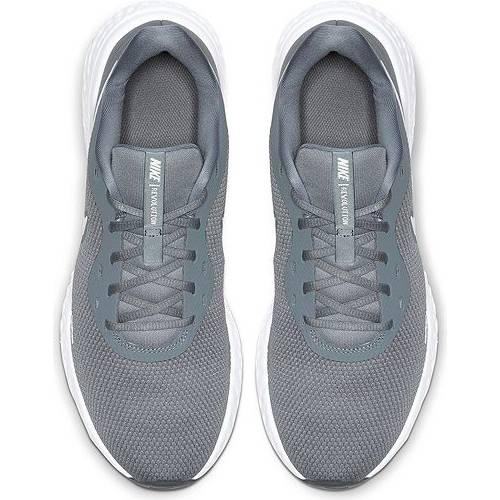 ナイキ NIKE メンズ スニーカー 運動靴 【 Mens Revolution 5 Running Shoes 】 Grey/white
