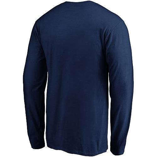 FANATICS メンズ 青 ブルー ロゴ 紺 ネイビー スリーブ メンズファッション コート ジャケット 【 Nhl Mens Columbus Blue Jackets Tricode Logo Navy Long Sleeve Shirt 】 Color