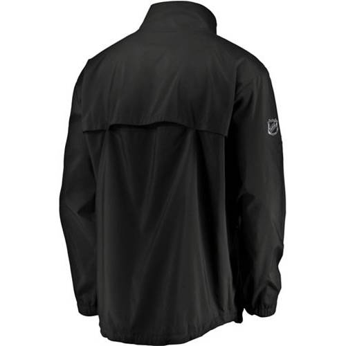 FANATICS メンズ デトロイト 赤 レッド オーセンティック プロ 黒 ブラック メンズファッション コート ジャケット 【 Nhl Mens Detroit Red Wings Authentic Pro Rinkside Black Full-zip Jacket 】 Color