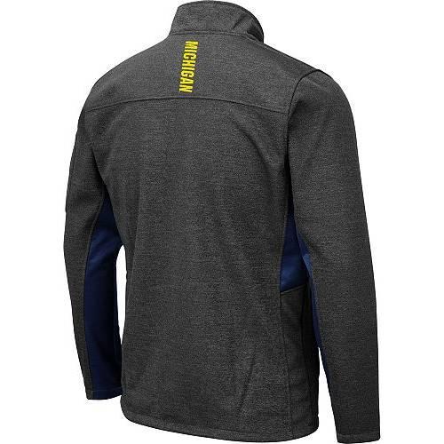 COLOSSEUM メンズ ミシガン Gray灰色 グレイ メンズファッション コート ジャケット 【 Mens Michigan Wolverines Grey Bumblebee Man Full-zip Jacket 】 Color