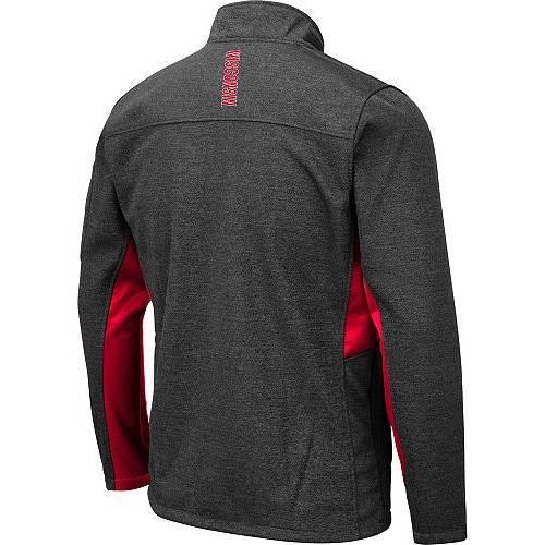 COLOSSEUM メンズ ウィスコンシン Gray灰色 グレイ メンズファッション コート ジャケット 【 Mens Wisconsin Badgers Grey Bumblebee Man Full-zip Jacket 】 Color