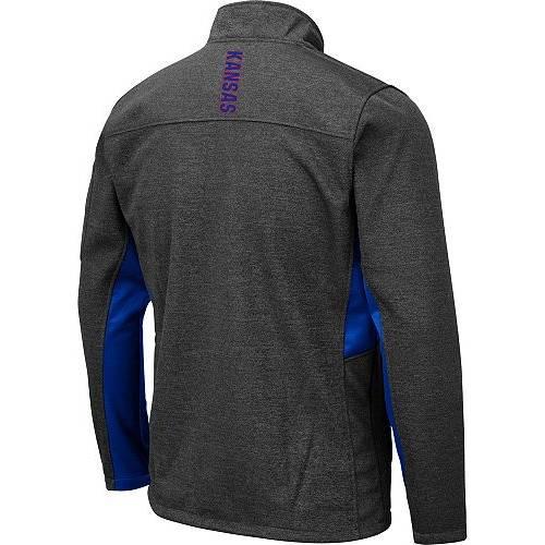COLOSSEUM メンズ カンザス Gray灰色 グレイ メンズファッション コート ジャケット 【 Mens Kansas Jayhawks Grey Bumblebee Man Full-zip Jacket 】 Color