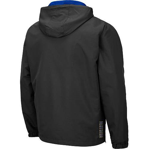 COLOSSEUM メンズ パンサーズ Gray灰色 グレイ メンズファッション コート ジャケット 【 Mens Pitt Panthers Grey Dolph Half-zip Jacket 】 Color