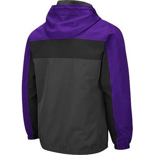 COLOSSEUM メンズ ワシントン Gray灰色 グレイ メンズファッション コート ジャケット 【 Mens Washington Huskies Grey Brockman Full-zip Jacket 】 Color