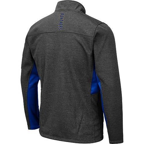 COLOSSEUM メンズ パンサーズ Gray灰色 グレイ メンズファッション コート ジャケット 【 Mens Pitt Panthers Grey Bumblebee Man Full-zip Jacket 】 Color