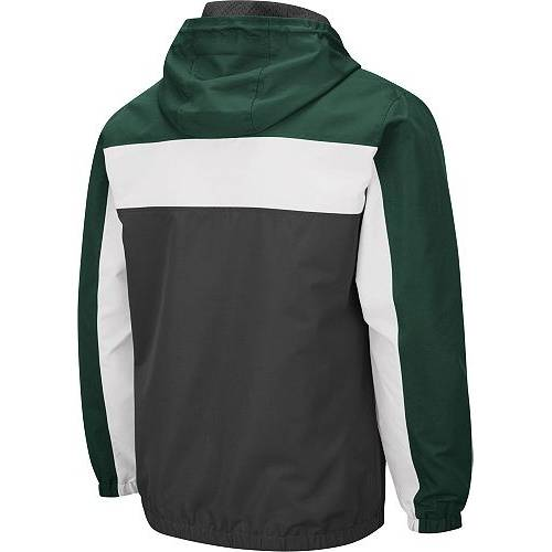 COLOSSEUM メンズ ミシガン スケートボード Gray灰色 グレイ メンズファッション コート ジャケット 【 Mens Michigan State Spartans Grey Brockman Full-zip Jacket 】 Color