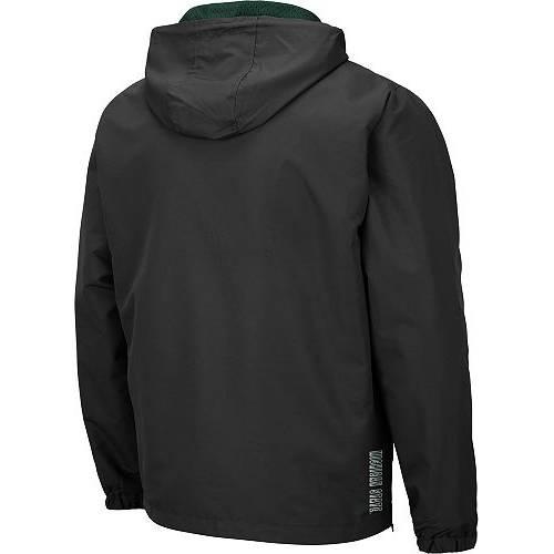 COLOSSEUM メンズ ミシガン スケートボード Gray灰色 グレイ メンズファッション コート ジャケット 【 Mens Michigan State Spartans Grey Dolph Half-zip Jacket 】 Color