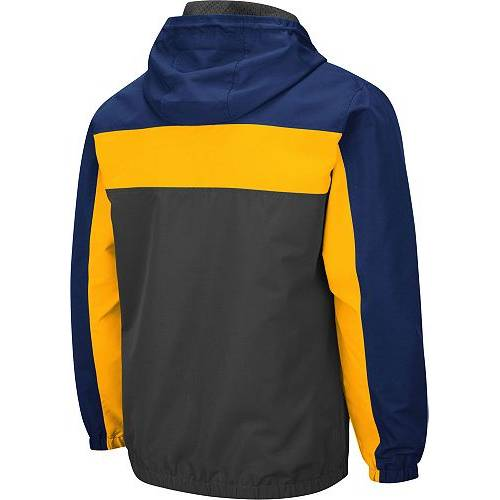 COLOSSEUM メンズ バージニア Gray灰色 グレイ メンズファッション コート ジャケット 【 Mens West Virginia Mountaineers Grey Brockman Full-zip Jacket 】 Color