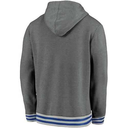 FANATICS メンズ トロント ヘザー Gray灰色 グレイ メンズファッション トップス パーカー 【 Nhl Mens Toronto Maple Leafs Upper Class Heather Grey Pullover Hoodie 】 Color