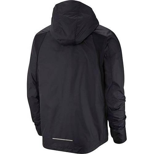 ナイキ NIKE メンズ メンズファッション コート ジャケット 【 Mens Repel Hooded Running Jacket 】 Black/reflective Silv