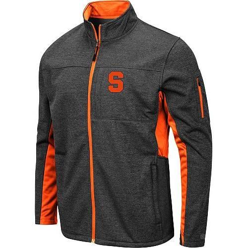 COLOSSEUM メンズ シラキュース 橙 オレンジ Gray灰色 グレイ メンズファッション コート ジャケット 【 Mens Syracuse Orange Grey Bumblebee Man Full-zip Jacket 】 Color