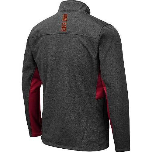 COLOSSEUM メンズ スケートボード Gray灰色 グレイ メンズファッション コート ジャケット 【 Mens Iowa State Cyclones Grey Bumblebee Man Full-zip Jacket 】 Color