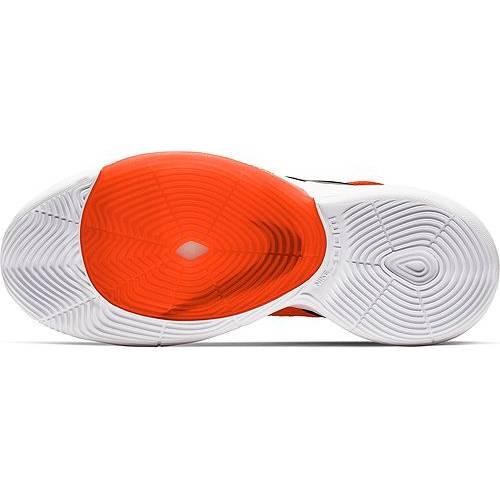 ナイキ NIKE ズーム バスケットボール スニーカー 運動靴 橙 オレンジ 白 ホワイト スニーカー 【 ZOOM ORANGE WHITE NIKE RIZE BASKETBALL SHOES 】 メンズ スニーカー