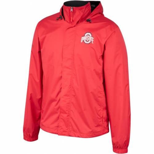 SCARLET & GRAY 灰色 グレー グレイ メンズ オハイオ スケートボード メンズファッション コート ジャケット 【 Scarlet And Gray Mens Ohio State Buckeyes Scarlet Outer Limits Full-zip Hooded Jacket 】 Color