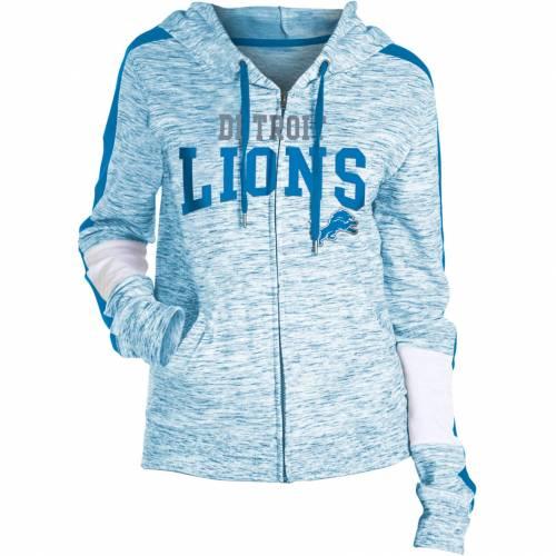 NFL TEAM APPAREL レディース デトロイト ライオンズ レディースファッション トップス パーカー 【 Womens Detroit Lions Space Dye Full-zip Hoodie 】 Color