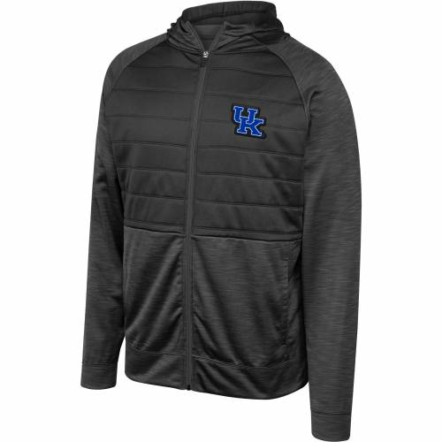 TOP OF THE WORLD メンズ ケンタッキー 黒 ブラック メンズファッション コート ジャケット 【 Mens Kentucky Wildcats Infusion Full-zip Hooded Black Jacket 】 Color