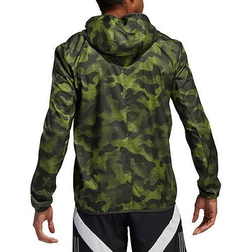 アディダス ADIDAS メンズ ラン メンズファッション コート ジャケット 【 Mens Own The Run Camouflage Running Jacket 】 Tech Olive/legend Earth