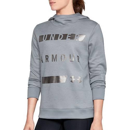 アンダーアーマー UNDER ARMOUR レディース フリース レディースファッション トップス パーカー 【 Womens Armour Fleece Hoodie 】 Steel