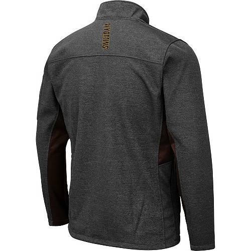 COLOSSEUM メンズ カウボーイズ Gray灰色 グレイ メンズファッション コート ジャケット 【 Mens Wyoming Cowboys Grey Bumblebee Man Full-zip Jacket 】 Color