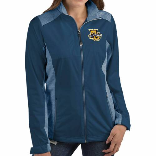 ANTIGUA レディース マーケット イーグルス 青 ブルー 【 Womens Marquette Golden Eagles Blue Revolve Full-zip Jacket 】 Color