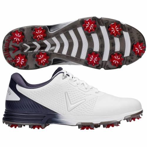 キャロウェイ CALLAWAY ゴルフ スニーカー 運動靴 白 ホワイト 紺 ネイビー MEN'S スニーカー 【 GOLF WHITE NAVY CALLAWAY CORONADO SHOES 】 メンズ スニーカー
