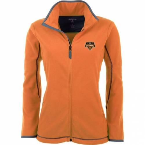 【★スーパーセール中★ 6/11深夜2時迄】ANTIGUA レディース ヒューストン 橙 オレンジ フリース 【 Womens Houston Dynamo Orange Ice Full-zip Fleece Jacket 】 Color