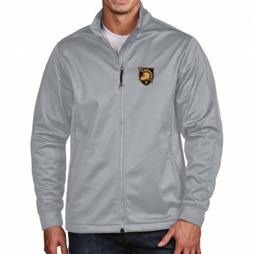 ANTIGUA メンズ 黒 ブラック Gray灰色 グレイ ゴルフ メンズファッション コート ジャケット 【 Mens Army West Point Black Knights Grey Full-zip Golf Jacket 】 Color