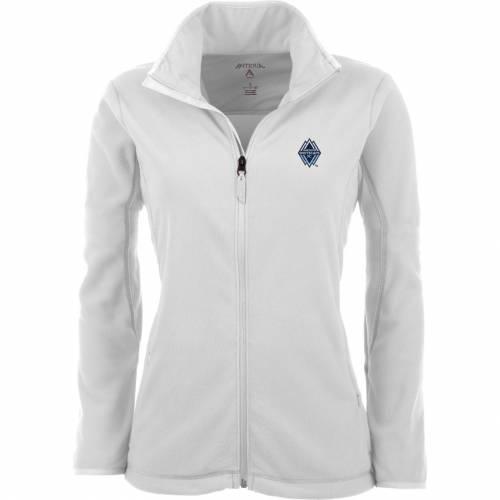 【★スーパーセール中★ 6/11深夜2時迄】ANTIGUA レディース 白 ホワイト フリース 【 Womens Vancouver Whitecaps White Ice Full-zip Fleece Jacket 】 Color